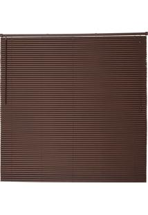 Persiana Wood Pvc 25Mm 160X160 - Evolux - Tabaco