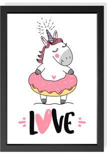 Quadro Love Decor Decorativo Infantil Unicorn Love