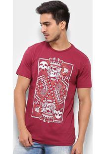 Camiseta Silk Rukes King Of Skull Masculina - Masculino-Vinho