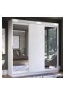 Guarda-Roupa Casal Madesa Istambul 3 Portas De Correr Com Espelhos 3 Gavetas - Branco