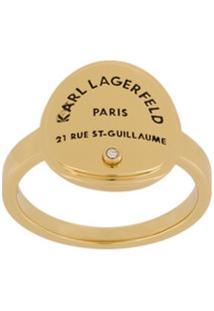 Karl Lagerfeld Anel Rue St. Guillaume Medallion Dourado