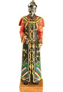 Estátua Decorativa De Resina Dinastia Qing X