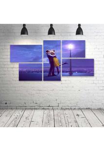 Quadro Decorativo - La-La-Land - Composto De 5 Quadros - Multicolorido - Dafiti