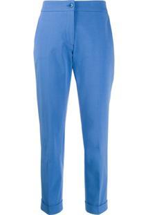 Etro Calça De Alfaiataria Cropped - Azul