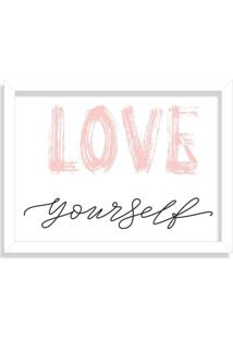Quadro Decorativo Love Yourself Branco - Médio