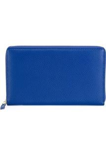 Comme Des Garçons Wallet Carteira De Couro Com Zíper - Azul