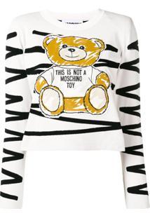 Moschino Blusa Com Estampa Teddy - Branco