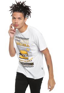 Camiseta Cavalera Hamburguer Branca
