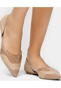 Sapatilha Shoestock Semi Aberta Bico Fino Safiano