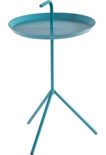 Mesa Apoio Handle Azul Turquesa Aco 41 Cm (Larg) - 41575 Sun House