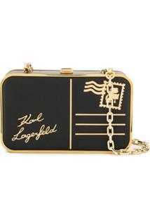 Karl Lagerfeld Bolsa K/Postcard - Preto