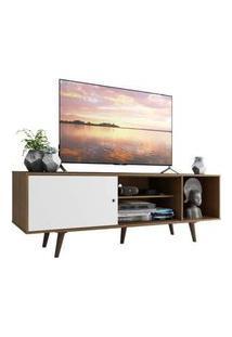 Rack Madesa Dubai Para Tv Até 65 Polegadas Com Pés Rustic/Branco/Rustic