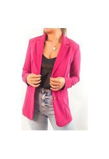 Blazer Crepe Com Elastáno - Pink