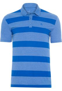 Polo Masculina Print - Azul