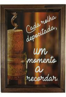 Quadro Porta Rolhas Decorativo Madeira Cada Rolha Depositada Um Momento À Recordar
