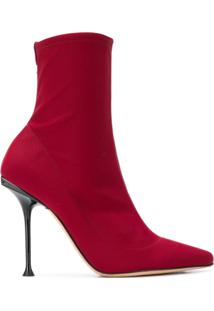 Sergio Rossi Ankle Boot Milano - Vermelho