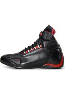 Tênis Atron Shoes Esportivo Refletivo Motociclista Cano Médio Em Couro