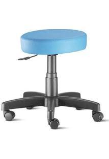 Cadeira Mocho Nina Sem Encosto Azul Claro