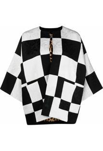 Dolce & Gabbana Jaqueta Damier De Jacquard - Branco
