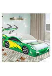 Cama Carro Solteiro Verde Casah