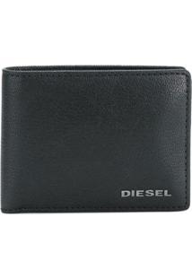 Diesel Carteira 'Hiresh' De Couro - Preto