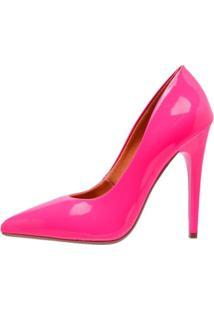 Scarpin Neon Factor Fashion Salto Alto - Rosa - Tricae