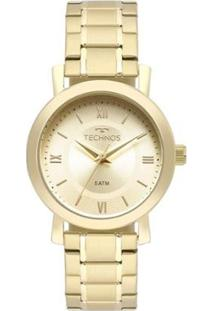 Relógio Technos Feminino - Feminino-Dourado