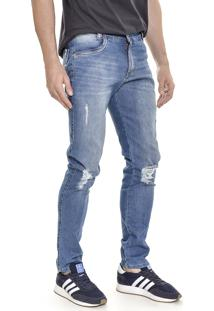 Calça Jeans Lemier Jeans Collection Skinny Azul