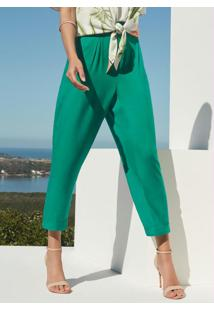 Calça Tecido Rayon Twill Verde