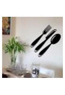 Adesivo Decorativo Para Cozinha Talheres 2 - Pequeno