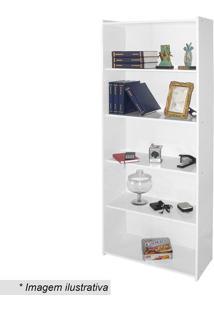Estante Biblioteca- Branca- 182X70X30Cm- Movel Bmovel Bento