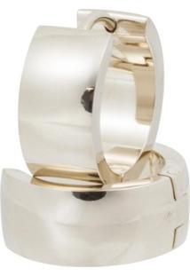 Brinco Aço 316L Gold Ipg Convex Jóias - Feminino-Dourado