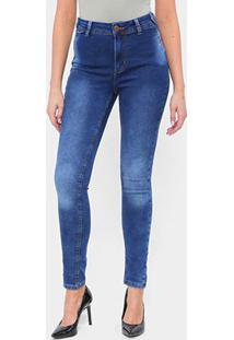 Calça Jeans Skinny Tks Estonada Cintura Média Feminina - Feminino