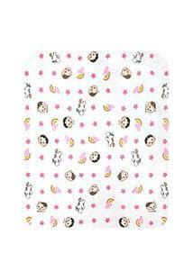 Cobertor Bebê Feminino Mônica E Magali Baby Branco (90X110Cm) - Turma Da Mônica - Tamanho Único - Branco,Rosa