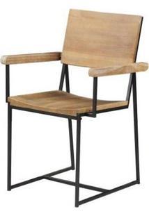 Cadeira York Com Braço Driftwood Base Grafite 83Cm - 53837 - Sun House