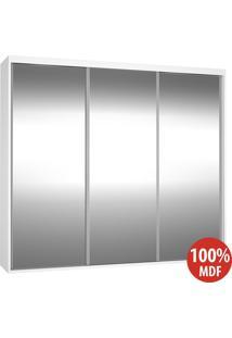 Guarda Roupa 3 Portas De Espelho 100% Mdf 1986E3 Branco - Foscarini