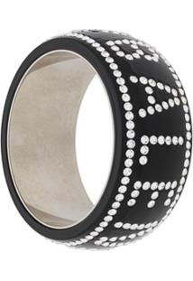 Balenciaga Bracelete Crush Com Aplicação De Cristais - Preto