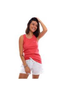 Pijama Short Doll Moon Magic Regata Pink/Branco