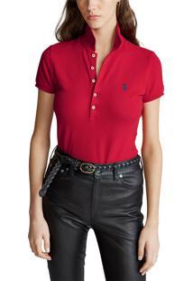 Camisa Polo Polo Ralph Lauren Reta Vermelha