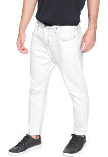 Calça Sarja Colcci Slim John Cropped Off-White
