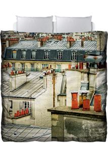 Edredom Colours Creative Photo Decor - Telhados Em Paris Bege