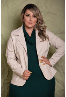 Blazer Camille Off White Plus Size