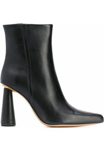 Jacquemus Ankle Boot Salto Cone - Preto
