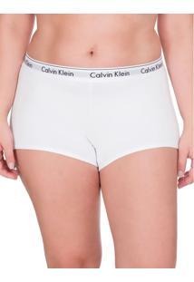 Calcinha Boyshort Moder Cotton Plus Size - Branco 2 - 4Xl