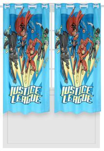 Cortina Lepper Liga Da Justiça Azul