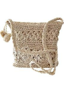 7998033823 ... Bolsa Crossbody Retangular Palha Natural