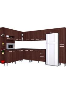 Cozinha Compacta 10 Peças Karina -Poquema - Capuccino