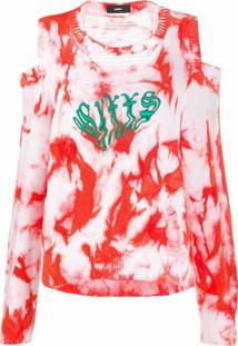 Diesel Suéter Com Estampa Tie-Dye - Vermelho