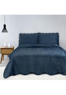 Colcha Casal Camesa Neo Clássico Velvet Com 2 Porta Travesseiros