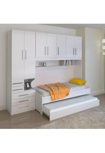 Dormitório De Solteiro Transversal Sem Cama 1326S Esquerdo Branco